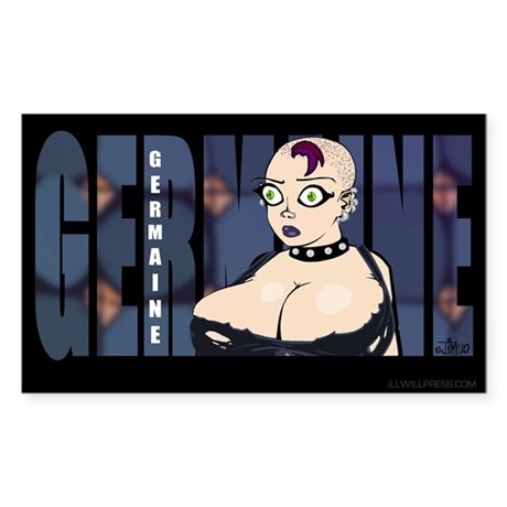 Germaine (Name Design) Sticker (Rectangle)