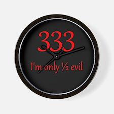 333: Half Evil Wall Clock
