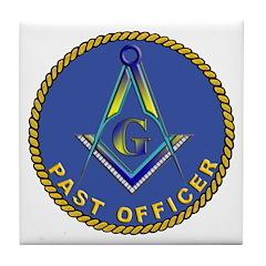 Masonic Past Officer Tile Coaster