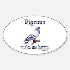 Pigeon Sticker (Oval)