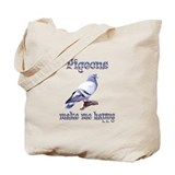 Pigeon Canvas Totes