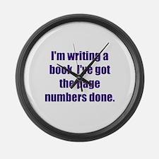 Writing a Book Large Wall Clock