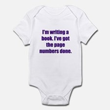 Writing a Book Infant Bodysuit