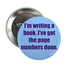 """Writing a Book 2.25"""" Button"""