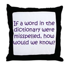 Misspelled word in Dictionary Throw Pillow