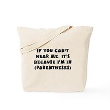 Parenthesis - Writing Tote Bag