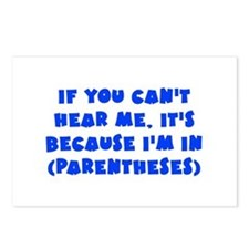Parenthesis - Writing Postcards (Package of 8)