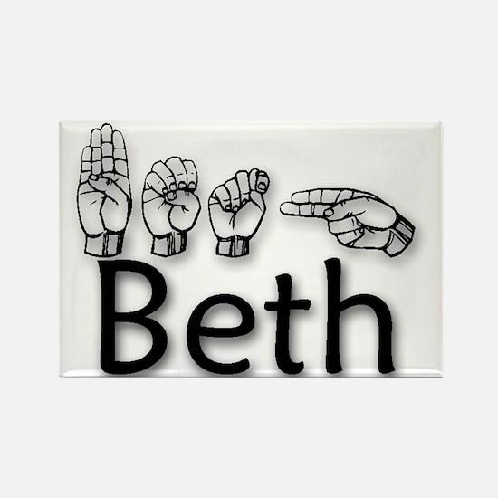 Beth-blk Rectangle Magnet