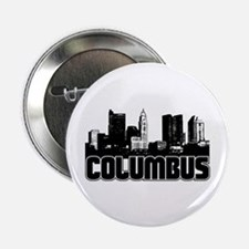 "Columbus Skyline 2.25"" Button"