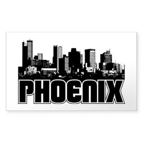 Phoenix Skyline Sticker (Rectangle)