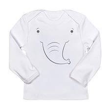 Baby Elephant Long Sleeve Infant T-Shirt