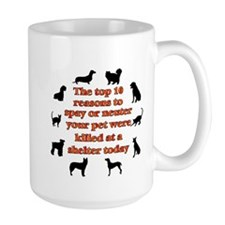 The top 10 reasons to spay or Mug