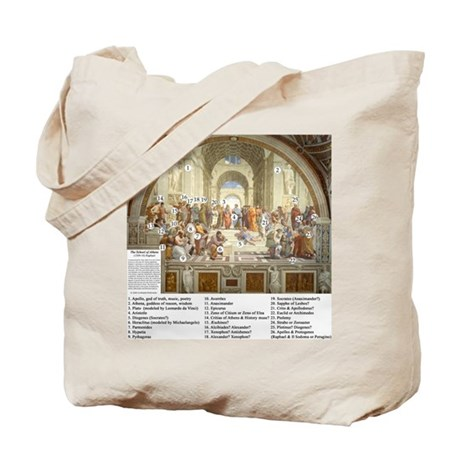 School of Athens Who is Who Tote Bag