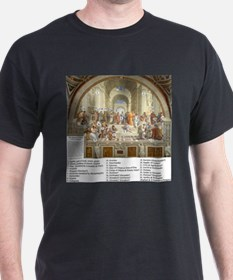 School of Athens Who is Who T-Shirt