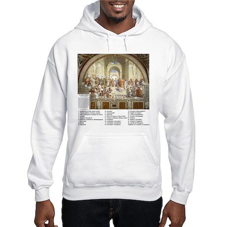 School of Athens Who is Who Hooded Sweatshirt