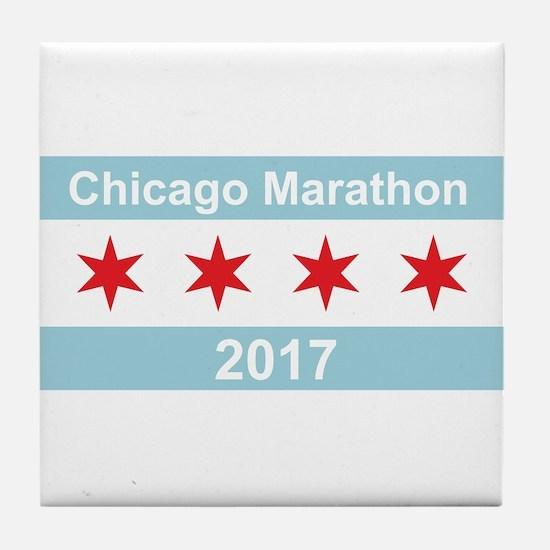 2017 Chicago Marathon Tile Coaster