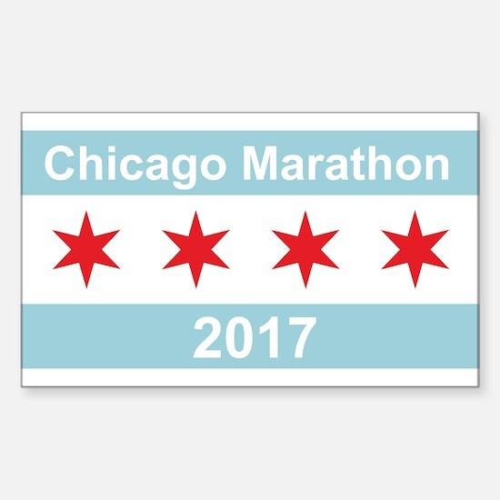 2017 Chicago Marathon Sticker (Rectangle)