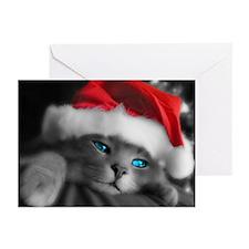 SANTA KITTY Greeting Cards (Pk of 10)