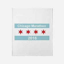 2016 Chicago Marathon Throw Blanket