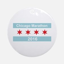 2016 Chicago Marathon Ornament (Round)