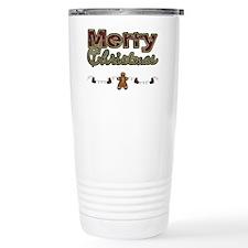Merry Christmas Gingerbread Travel Mug