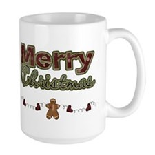 Merry Christmas Gingerbread Mug