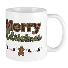 Merry Christmas Gingerbread Mug