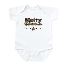 Merry Christmas Gingerbread Infant Bodysuit