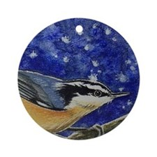 Nuthatch Bird Ornament (Round)
