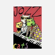Jazz Cats by Beans Barton Magnets
