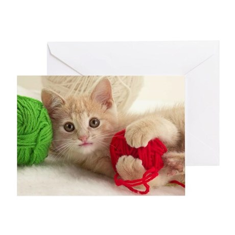 YARN KITTY Greeting Card