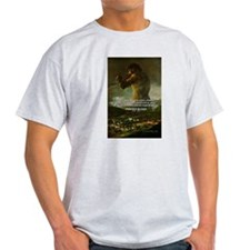 Goya Colossus Fantasy Quote Ash Grey T-Shirt