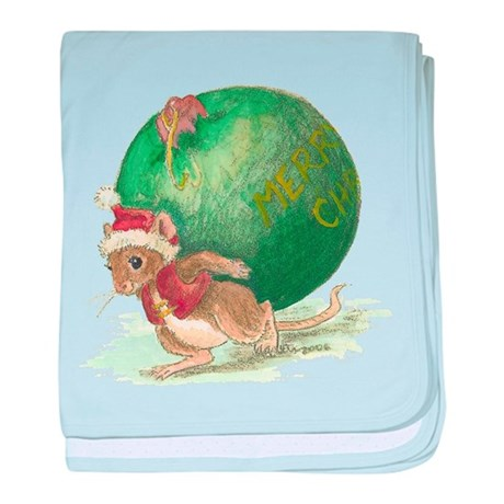 Christmas Mouse Infant Blanket