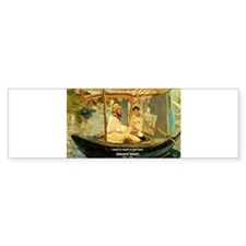 French Painter Manet Quote Bumper Bumper Sticker