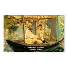 French Painter Manet Quote Rectangle Decal