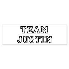 Team Justin Bumper Bumper Sticker