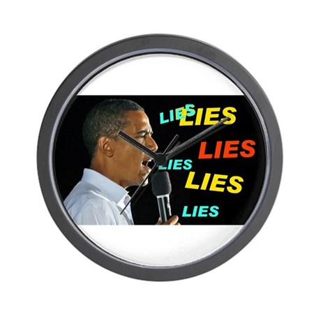 HE'S LYING AGAIN Wall Clock