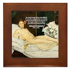 Impressionist Art Manet Framed Tile