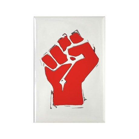 Raised Fist Rectangle Magnet (10 pack)