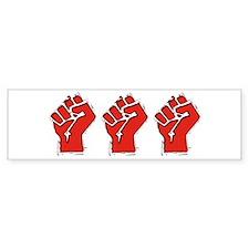 Raised Fist Bumper Sticker