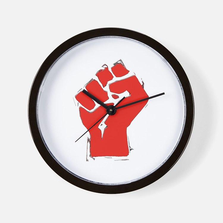Raised Fist Wall Clock