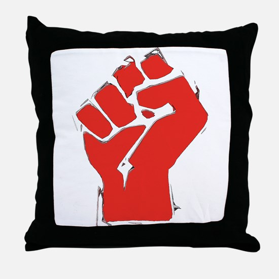Raised Fist Throw Pillow