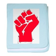 Raised Fist baby blanket