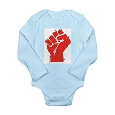 Raised Fist Long Sleeve Infant Bodysuit