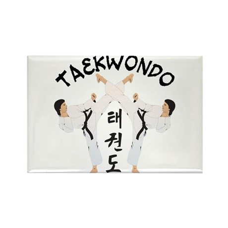 Taekwondo Rectangle Magnet (10 pack)