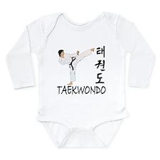 Taekwondo Long Sleeve Infant Bodysuit