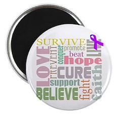 "Alzheimer's Inspirational Words 2.25"" Magnet (10 p"