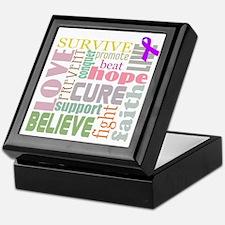 Alzheimer's Inspirational Words Keepsake Box