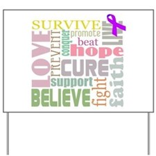 Alzheimer's Inspirational Words Yard Sign