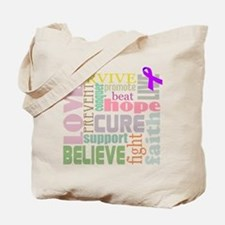 Alzheimer's Inspirational Words Tote Bag